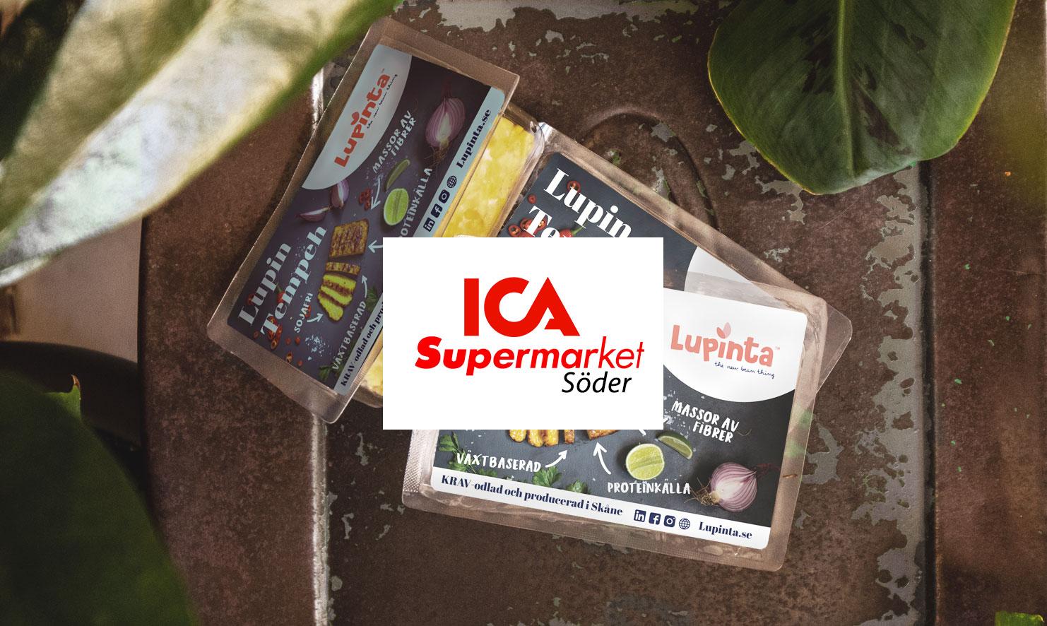 Lupinta-produkter på ICA Supermarket Söder i Malmö