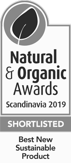 Natural & Organic Awards Scandinavia 2019, Shortlisted in Best New Sustainable Product