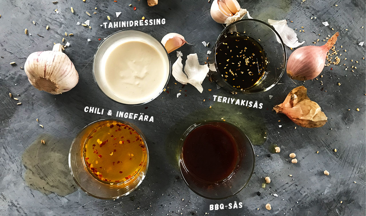 Såser och marinader för tempeh