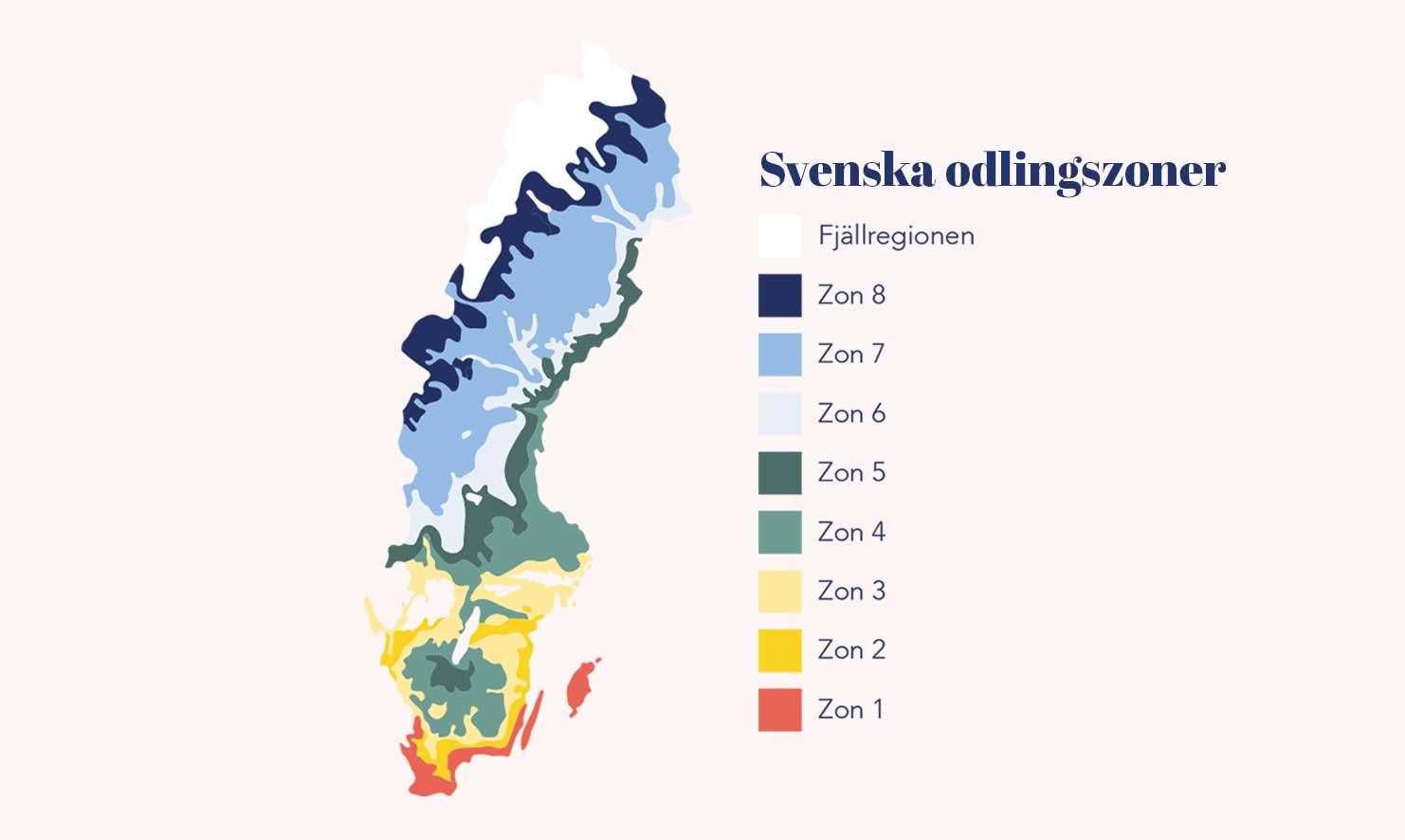 Sveriges odlingszoner